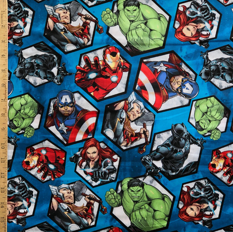 Marvel super hero comic book fabric avengers fabric - Marvel spiderman comics pdf ...