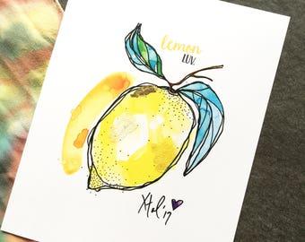 "Lemon Luv - 8 x 10"" Art Print"