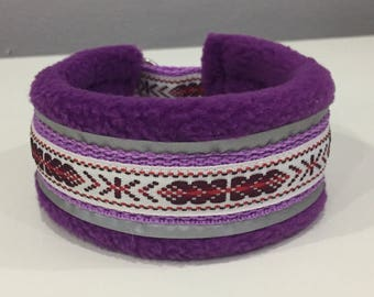 Fleece lined martingale collar for Italian Greyhound/ Martingale style dog collar