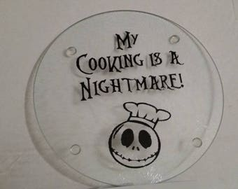 """Jack Skellington Cutting Board """"My Cooking is a Nightmare"""""""
