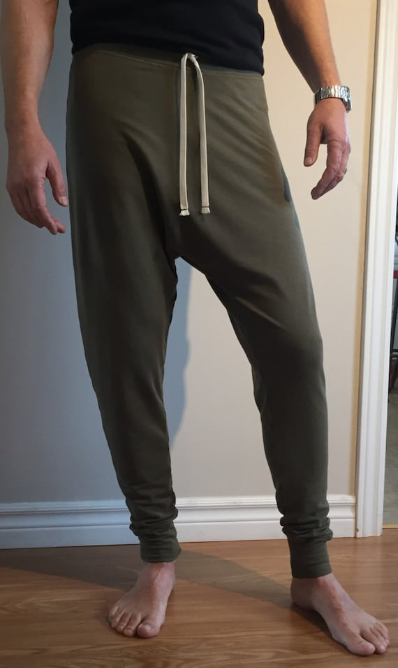 C&B High Waist Harem SLIM bamboo blend - Women's; AKA: Harem Trousers, Drop Crotch Pants, Drop Crotch Trousers, Yoga pants, men, women