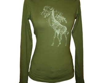 Olive Green Giraffe and Acacia