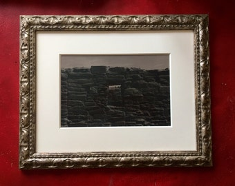 "Artist's Proof ""Window at Quarai"". Framed selenium tone silver gelatin print."