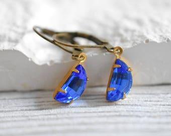 Crystal Drops - Vintage Earrings (VINOHR-71)