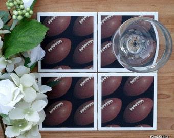 Drink Coaster - Tile Coaster - Ceramic Coaster - Ceramic Tile Coaster - Coaster Set - Table Coasters - Football Coasters - Coaster