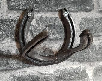 Heavy Duty Horseshoe Tool Hook for Brooms Yard Items Spades Equestrian DIY