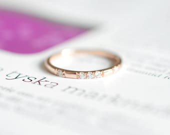 Rose Gold Wedding Band 18k Rose Gold Wedding Ring 14k Rose Gold Band Wedding Band Diamond Rose Gold Wedding Band Rose Gold Diamond Ring