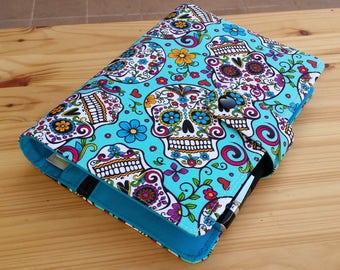 Turquoise Sugar skulls  Happy Planner Cover set includes mini Happy planner dated