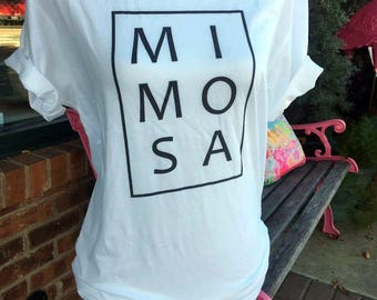 Mimosa Tshirt, Sunday Brunch Tshirt, Brunch Tshirt, Free Shipping