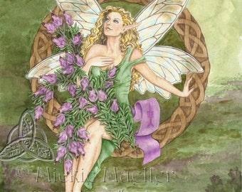Celtic Heather Fairy Open Edition Print