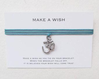 Wish bracelet, om bracelet, ohm bracelet, wrap bracelet