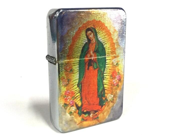 Lighter, Guadalupe, Sublimated Lighter, retro lighter, Cigar Lighter, Flip Lighter, Gift for Him, Groomsmen, Bachelors, Groom, Fathers Day