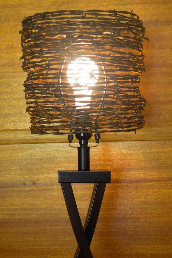 Lamp shade barb wire lamp shade western lamp shade lamp shade barb wire lamp shade western lamp shade lighting wire lamp shade western art industrial lamp shade metal art steampunk greentooth Image collections