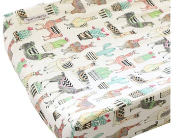 Lovely Llama's Changing Pad Cover
