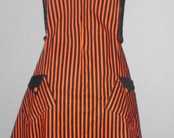 Apron, Orange and Black Stripe