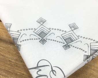 Father of the Bride or Groom Pocket Square, Hand illustrated hankie, Men's handkerchief, Wedding handkerchief, Father hankie ~ text as shown