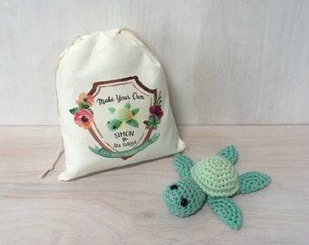 Simon the Sea Turtle DIY Crochet Kit