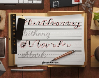 Calligraphy doodles and lettering printables by gracecallidesigns