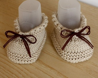 Knitting pattern (pdf file) - BABY Booties Easy to Make ( 0-6/6-12/ Toddler sizes)