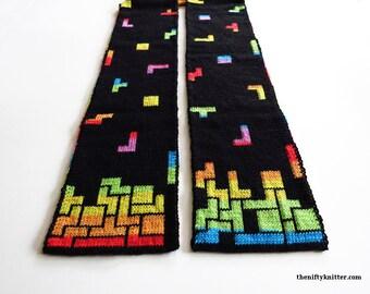 Knitting Pattern - Tetris Prism Scarf