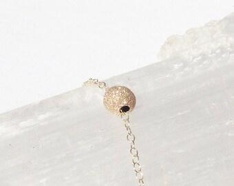 14k gold filled - Sparkle Ball bracelet -  Gold ball bracelet - Gold sparkle bracelet - Charm Bracelet