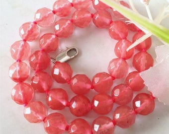 5 BEADS HAVE FACETED AAA WATERMELON TOURMALINE +++ 8MM.