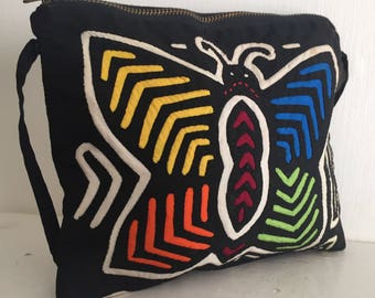 Butterfly design inlaid stitch bag