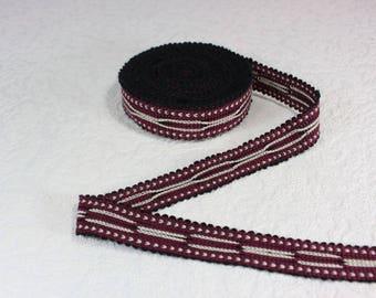 Woven Trim (6 yards), Woven Border, Cotton Ribbon, Grosgrain Ribbon, Dress Border, Border Trim, Ikat Fabric, T104 (R381)