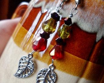 Vineyard Wine - Metal and Beaded Earring Set
