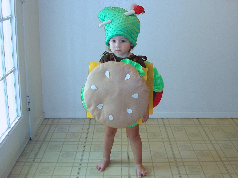 ?zoom  sc 1 st  Etsy & Baby Costume Cheeseburger Hamburger Halloween Costume Dress Up