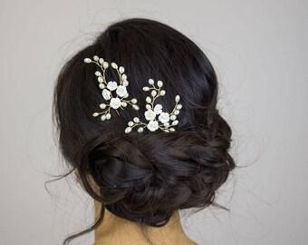 Floral Hair Pin     hair piece   hair pins   head piece   hair decoration   Bridesmaids hair pins   Bridesmaids hair decoration