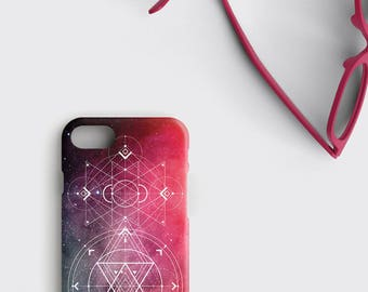 Galaxy iPhone X Case Nebula Samsung Galaxy S8 Plus Case - Space iPhone 7 Case Sacred Geometry iPhone 8 Case Flower of Life iPhone 6S Case