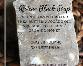 Creamed. African Black Soap; Hot Process Shea Butter Soap