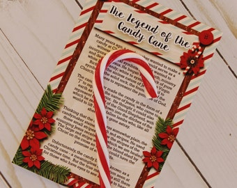 Neighbor Christmas Gifts, For Friends, Candy Cane Ornament Poem, White Elephant Gift, Christmas Gift Ideas, Gift For CoWorkers