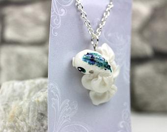 Necklace with a koi charm kawaii fantasy jewelry koi pendant goldfish