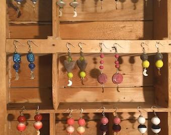 Mixed Lunar Earrings