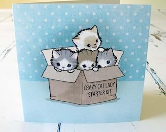 Crazy Cat Lady Starter Kit Card