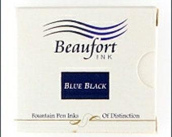 Beaufort Ink - Blue Black - 6 Cartridge Pack