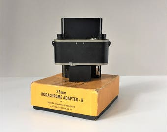 35mm Kodachrome Adapter - B, For Use With Kodak Precision Enlarger or Kodak Recomar 33, 1930s Photography Equipment, Vintage Electronics
