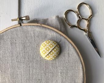 Needleminder,Needle,Minder,Needle Keeper,Embroidery,Yellow,Embroidery Supplies,Needlepoint Supplies,Crossstitch Supplies,Crosstitch,Sewing