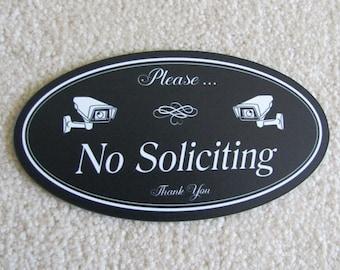No Soliciting Sign | No Soliciting Security Signs | Security Camera Sign | Please No Soliciting Sign | Solicitation  Sign | No Solicitors