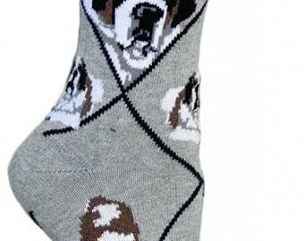 Saint Bernard Dog Breed Lightweight Stretch Cotton Adult Socks
