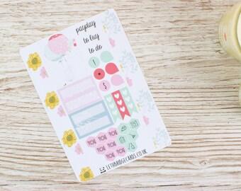Printemps Bunny Pocket Planner Kit; Kit hebdomadaire; Kit AMT; Planner Stickers; Filofax; Mini Kit; Kit hebdomadaire de printemps; Kit de lapin; Kit de Pâques