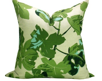 Fig Leaf pillow cover in Original on Natural