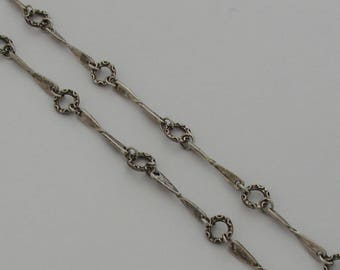 50cm round chain and links antique silver paddle sticks