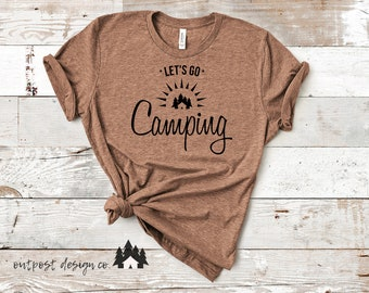 Let's Go Camping - Digital Cut File for Silhouette or Cricut - SVG