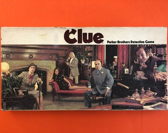 1972 Clue Board Game- Parker Brothers Detective Game - Please Read Description
