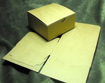 TAX SEASON Stock up 20 Pack Kraft Brown Paper Tuck Top Style Packaging Retail Gift Boxes 4X4X2 Inch Size