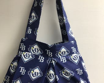The Batter Up: Shoulder Purse (Tampa Bay Rays)
