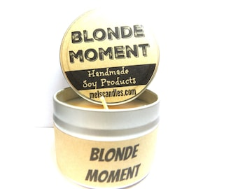 BLONDE MOMENT 4 ounce soy candle tin - take it anywhere!